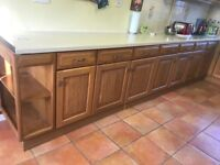 Solid oak kitchen available.