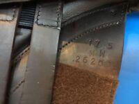 17.5, Medium/wide, Brown event saddle