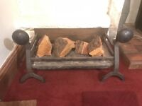 Antique Cast Iron Large Fire / Dog Grate