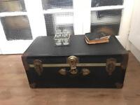 VINTAGE TRUNK CHEST FREE DELIVERY LDN🇬🇧STORAGE BOX COFFEE TABLE