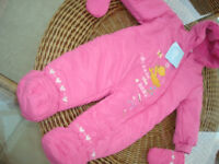 Girls Snowsuit by Disney Age 6 to 9 Months (Never Worn)