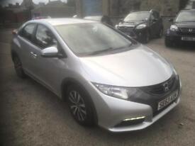 2013 63 Honda civic es 1.6 d-tec 5 dr. (DIESEL FREE ROAD TAX)