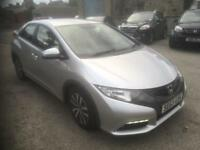 2013 63 Honda civic es 1.6 d-tec 5 dr. (DIESEL FREE ROAD TAX)