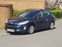 2010 '60' Peugeot 308 1.6 Hdi SR Sat Nav Bluetooth Genuine 80k £30 Tax Mot Oct 18