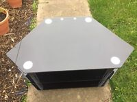 TV stand glass for 32 inch TV very good and clean condition. Not in use anymore therefore selling.