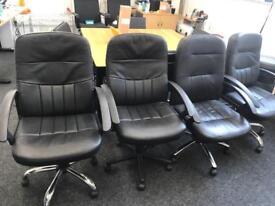4 x Black Comfy Desk Chairs