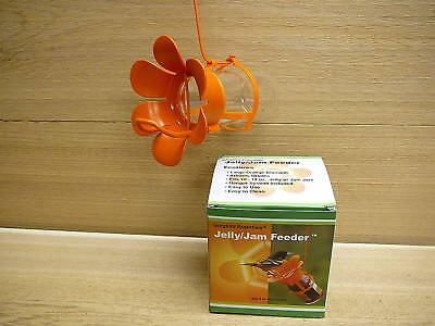 Songbird Essentials Jelly Jam Oriole Bird Feeder w/ Jar & Large Orange Blossom