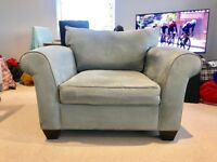 Large Blue Arm Chair £175