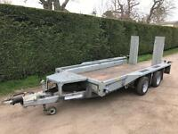 Ifor Williams 12ft 3.5 tonne plant trailer