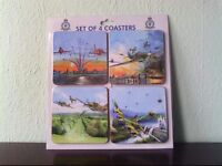 RAF / BOMBER COMMAND / RED ARROWS / SPITFIRE COASTERS