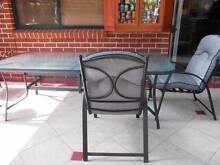 7Ft long outloor table & 6 chairs with cushioning Heritage Park Logan Area Preview