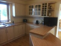Kitchen for sale includes ovens, hob & fridge.