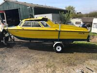 Microplus 502 boat with engine and new trailer