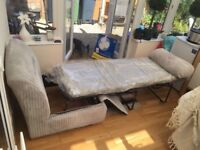 Nearly new sofa bed only slept on twice. Excellent condition