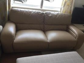 DFS Camel Leather Sofa 3 Seater