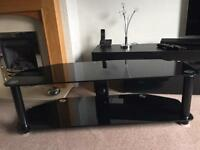 Black glass tv stand up to 55 inch