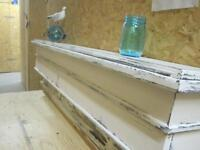 DECORATIVE LEDGE, SHABBY CHIC, - NEW, HANDCRAFTED