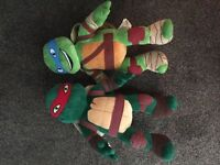 Teenage Ninja Tuttle Plush Soft Toys x2 (plus Helicopter- launcher toy)