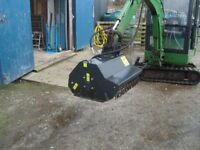 Robustrack flail mower head