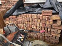500 red reclaimed bricks