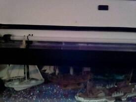 4 foot fish tank full set up