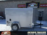 SOLD..2015 Stealth Trailers 5 x 8 +  v nose / double rear doors