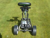 Hilly Billy golf trolley and 2 batteries
