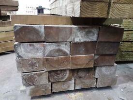 🌟 Pressure Treated Railway Sleepers 225mm x 125mm x2400mm