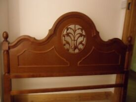 FREE VGC Double Bed Frame Reproduction Antique French Louis Style. Wood with Metal Base