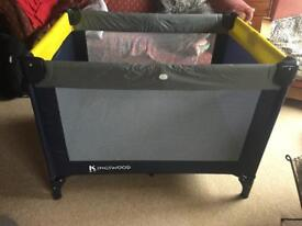 Travel cot / play pen. Kingswood brand