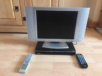 """15"""" LCD TV with DVD player and scart."""