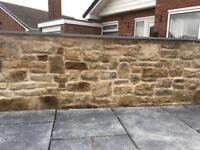 Garden walling drystone walling random stone walling .