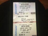 Two seated Justin Biebertickets, RDS Dublin, 21st June. Genuine reason for sale. Face value. Q