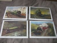 Terence Cuneo Railway Prints x 4