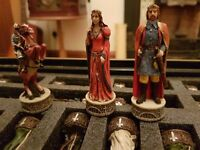 ITALFAMA Hand Painted Robin Hood Themed Chess Pieces
