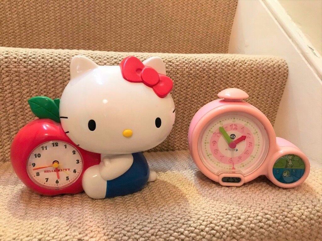 My First Alarm Clock + Hello Kitty clock/piggy bank
