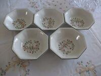 5 Eternal Beau soup/cereal/fruit/pudding plates