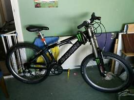 Saracen down hill stunt mountain bike