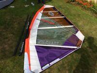 Windsurfing Sail 5 MTRs - C/w Tushingham 400 Mast