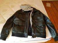 Extra large men's jacket leather look