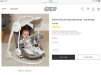Mamas and Papas Starlite Swing Grey Melange Design RRP £129.00