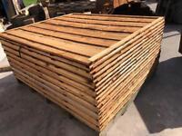 🌞 Brown Tanalised Waneylap Wooden Garden Fence Panels