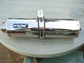Stainless Steel Sports Silencer For Yamaha FZR or Thunderace by Pipe Worx.