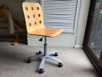 Ikea Office Chair - Natural Beech Colour
