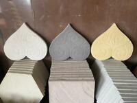 💛 Love Heart Concrete Stepping Stone / Garden Ornament ~ New