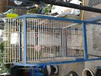 Parrot/Bird cage on wheels.