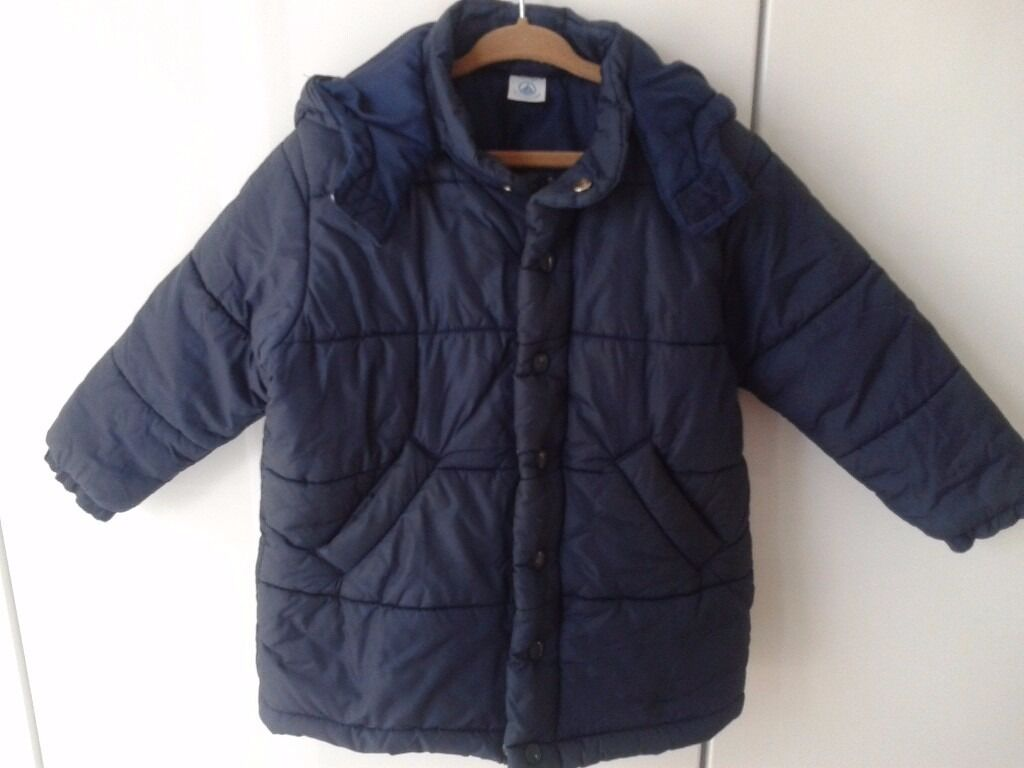 Petit Bateau Girls Puffa Coat With Hood