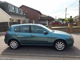Nissan Almera Automatic, 32,000 Miles, FSH, Low Mileage Japanese Auto, 5 Door Hatchback Mot March 19