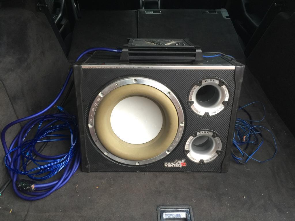 Vibe 3000w Subwoofer With Amp And Wiring Kit In Newark