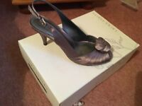Laura Ashley shoes suitable for weddings new in box, taupe colour, size 4